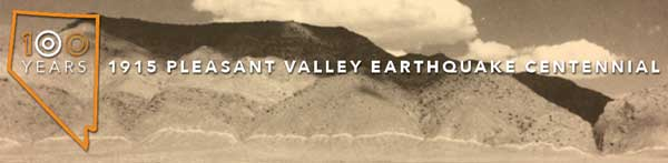 1915 Pleasant Valley, NV Earthquake Centennial