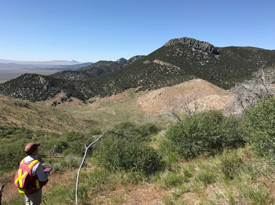 Geologic mapping in northeast NV.